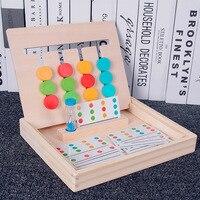 Montessori eğitim ahşap oyuncaklar erken öğretici oyuncaklar dört renk oyun çocuk oyunları oyuncaklar okul öncesi eğitim öğretici oyuncaklar