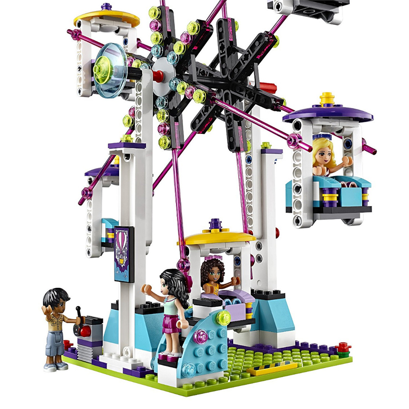 Girls Friends 1124pcs Building Blocks Toys Bricks Set Amusement Park Roller Coaster Kids Toy Girl Gifts Compatible Legoe 2016 bela 10497 10496 10493 girls friends city park cafe building blocks set figures bricks toys 41119