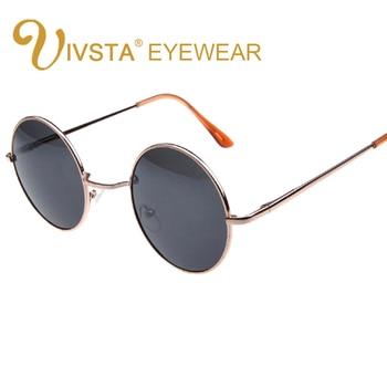 442f838a49 IVSTA gafas de sol redondas para mujer, gafas redondas para hombre, gafas  redondas Vintage, gafas de sol redondas para hombre, gafas con montura de  Metal de ...