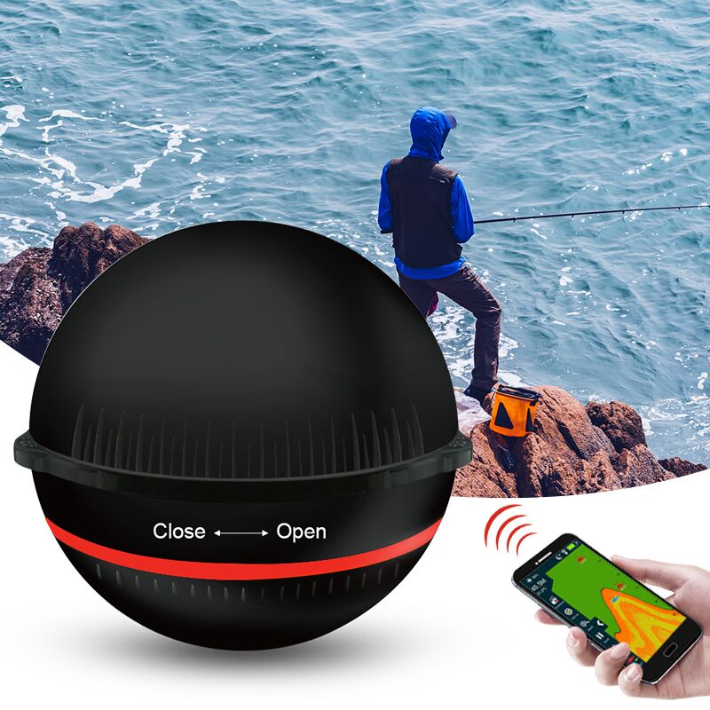 Erchang Portable Wireless Sonar Sensor Fish Finder for Lake Sea Fishing Sonar Depth Finder Transducer Sonar For Fishing portable fish finder bluetooth wireless echo sounder underwater bluetooth sea lake smart hd sonar sensor depth