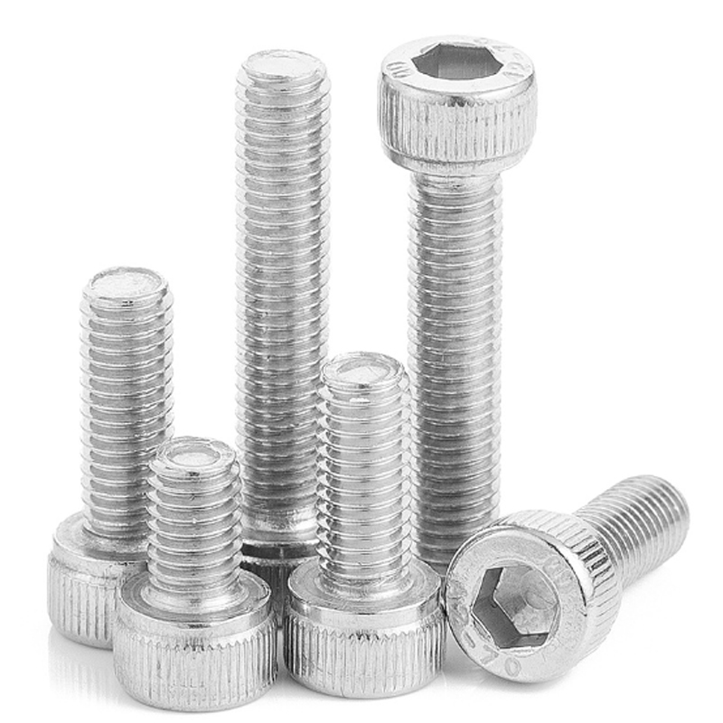 20pcs M3 M4 <font><b>M5</b></font> 6/10/16/20/25/30/<font><b>40mm</b></font> DIN912 A2-70 304 Stainless Steel Hexagon Socket Head Cap Screws Hex Cylindrical head Bolts image