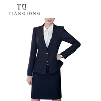 TIAN QIONG Women Latest Coat Pant Designs 50% WOOL Tailor made Women Office Suit Stage Wear Clothing Fashion Women 2 Piece Suits