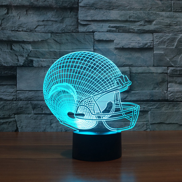 Logotipo del Equipo de la NFL San Diego Chargers Lámpara Visual 3D Luz de La Noche Botón táctil de Escritorio USB Lampara ya que Además de Luz para Los Niños En Casa decoración