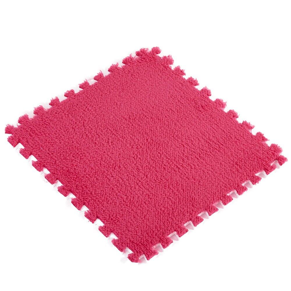 Ребенок ползает коврики покрытие для пола Сращивание ковры 30*30*0,6 см EVA пластик пены 30*30*0,6 30*30*0,6 водостойкий противоударный - Цвет: rose red