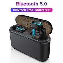 Esvne Q32 TWS 5.0 3D Som Surround Fones De Ouvido Handsfree Fone de Ouvido Sem Fio Bluetooth Esportes fone de Ouvido Fones de Ouvido Sem Fio À Prova D Água