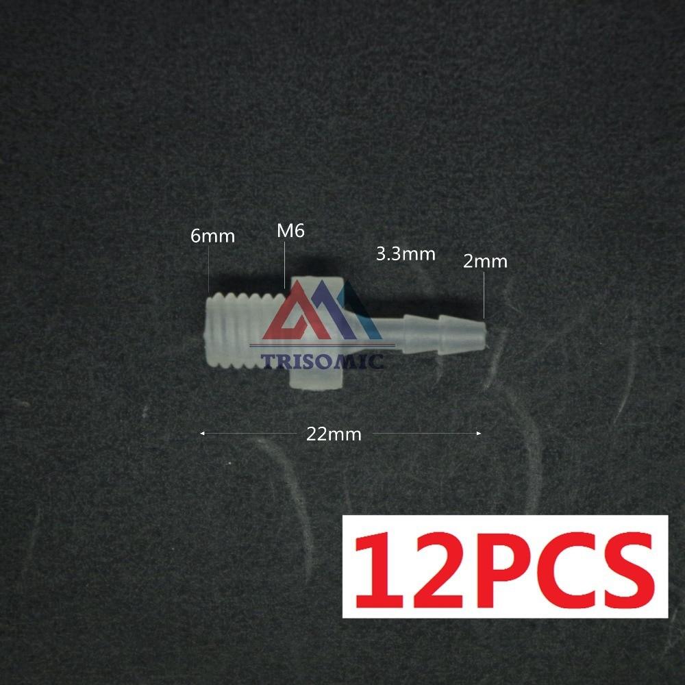 Sanitär Qualifiziert 12 Stücke 2mm-m6 Gerade Verbindungskunststoffrohr Fitting Barbed Stecker Mit Gewinde Material Pp Tank Airline Aquarium Husten Heilen Und Auswurf Erleichtern Und Heiserkeit Lindern