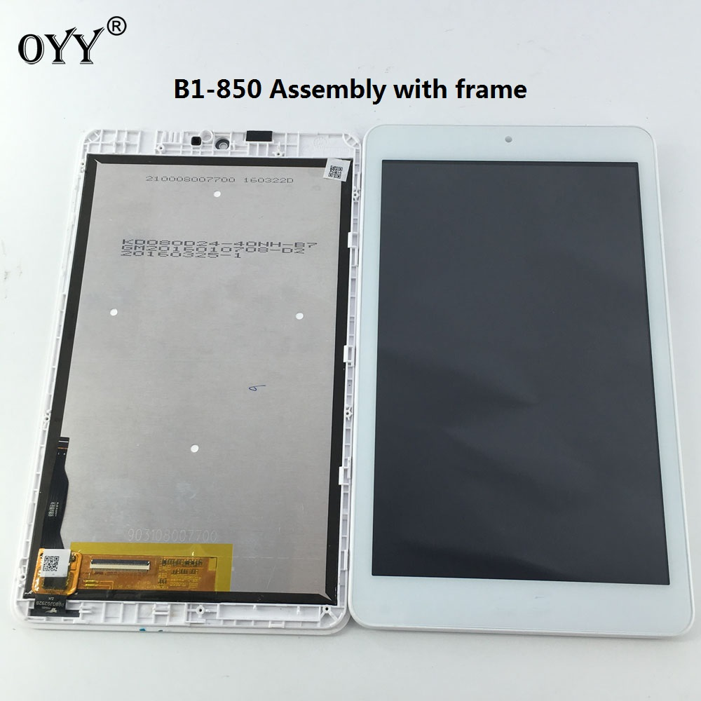 LCD Display Panel Screen Monitor PB80JG2928 Touch Screen Digitizer Glass Assembly For Iconia One 8 B1-850 A6001 tablet pc white for lenovo yoga tablet 2 1050 1050f 1050l new full lcd display monitor digitizer touch screen glass panel assembly replacement