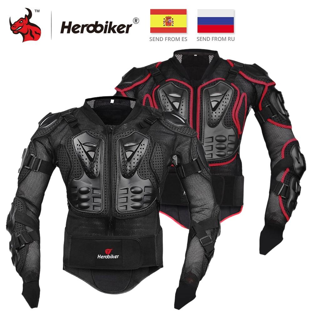 HEROBIKER Motocicleta Armadura Equipamentos de Proteção Engrenagem Motocross Armadura Peito Corpo Moto Rider Corrida Jacket Motocicleta Proteção S-5XL