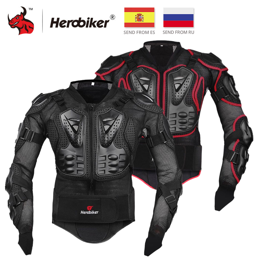 HEROBIKER Motorcycle Armor Protective Gear Motocross Gear Armor Body Chest Moto Rider Racing Jacket Motorcycle Protection S-5XL