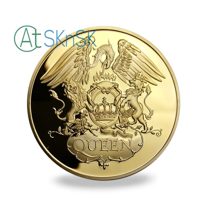 10pcs / lot, Brezplačna dostava Famous Band - Queen Gold Plated - Dekor za dom - Fotografija 3