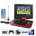 "7.5 ""Coche Reproductor de DVD portátil con Pantalla Giratoria Soporta MPEG-4 Sd USB Juego TV EE. UU./UE Plug Formatos MP4/AVI/RMVB/MP3/JPEG"