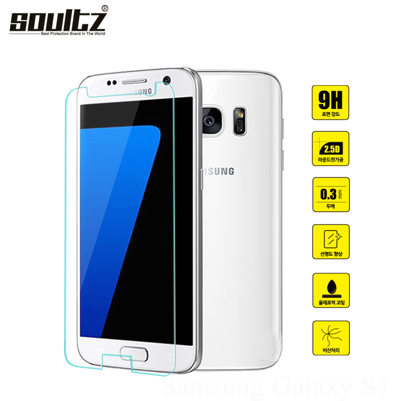 Soultz 0.3mm 9H 2.5D Tempered Glass Film Screen Protector for Samsung Galaxy S3 S4 S5 S6 S7 Note 3 4 S5mini J7 A8 A7 Clean Tools
