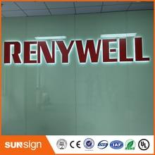 Прямая с фабрики из нержавеющей стали с подсветкой табло магазине логотип спереди металлические буквы светодиодные