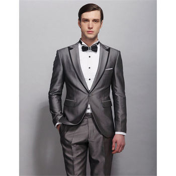 Hot Sale Wedding Suit Black Edge Jacket As Groom Tuxedos Groomsman Suit Custom Made Man Suit for Man Clothes (Jacket+pants)