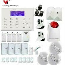 YobangSecurity Wireless Wifi GSM Home Burglar Security Alarm System Kit Wireles Video IP Camera Smoke Fire Detector Strobe Siren