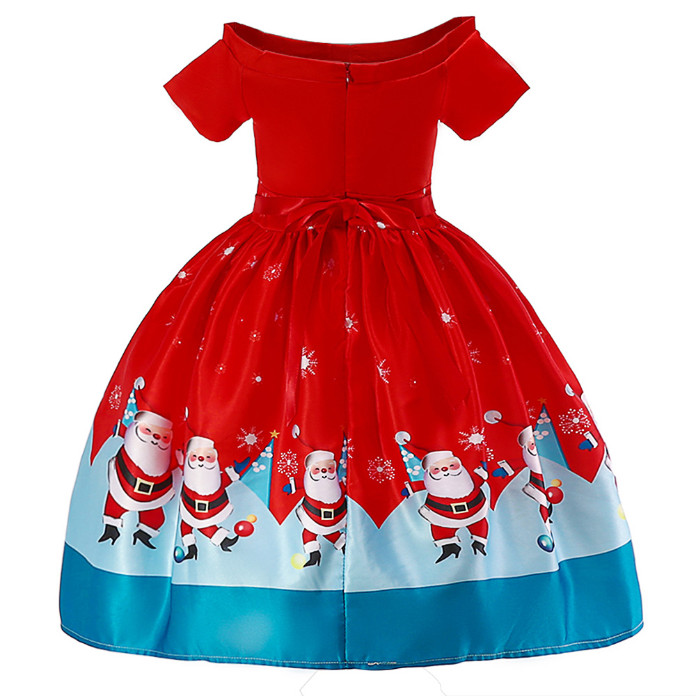 Image 2 - BAOHULU Children Christmas Dress Girl Short Red Princess Party Dress Grils Ball Gown for 2T 3T 4T 5T 6T 7T 8T 9T 10T 11T Kids-in Dresses from Mother & Kids