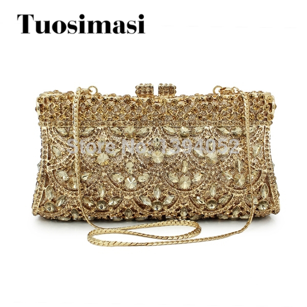 gold metal gold stone ladies evening clutch bags wedding evening bag woman handbags purses(8742A-G) g sellars an evening idyl