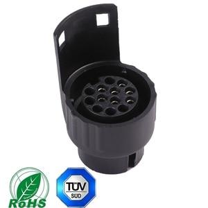 Image 2 - AOHEWEI 1 pc גרירת 7 פינים קרוואן תקע 1 pc 7Way פלסטיק שקע עמיד למים 12 V מחבר עבור Towbar קרוון משאית RV ואן