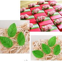 Шт. 200 шт. искусственный цветок зеленый Рождество листья для Свадебные украшения Гирлянда Роза Лист Листья декоративные искусственные поддельные цветы