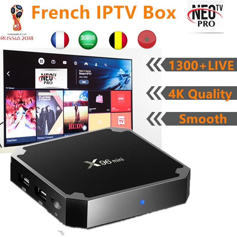 French IPTV X96mini 4k Android TV Box 7 1 France Arabic Belgium Morroco IPTV Subscription 1300