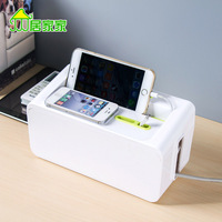Wire junction box housing strip protective sleeve data cable Desktop Power cord socket storage box
