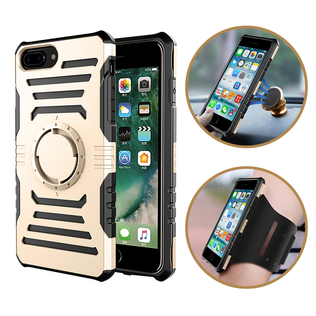 Running Sport Arm Band Case For iPhone 7 Plus 7Plus Antiknock GYM Bag Cover Car Holder Magnet NEWOER