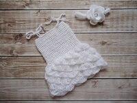 white Baby Mohair Dress, cool summer cloth Newborn Baby CROCHET Dress Photo Prop, Girls Summer style