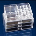 Free Shipping Clear Acrylic Cosmetic Makeup Case Holder Drawers Jewelry Storage Box Gift  15