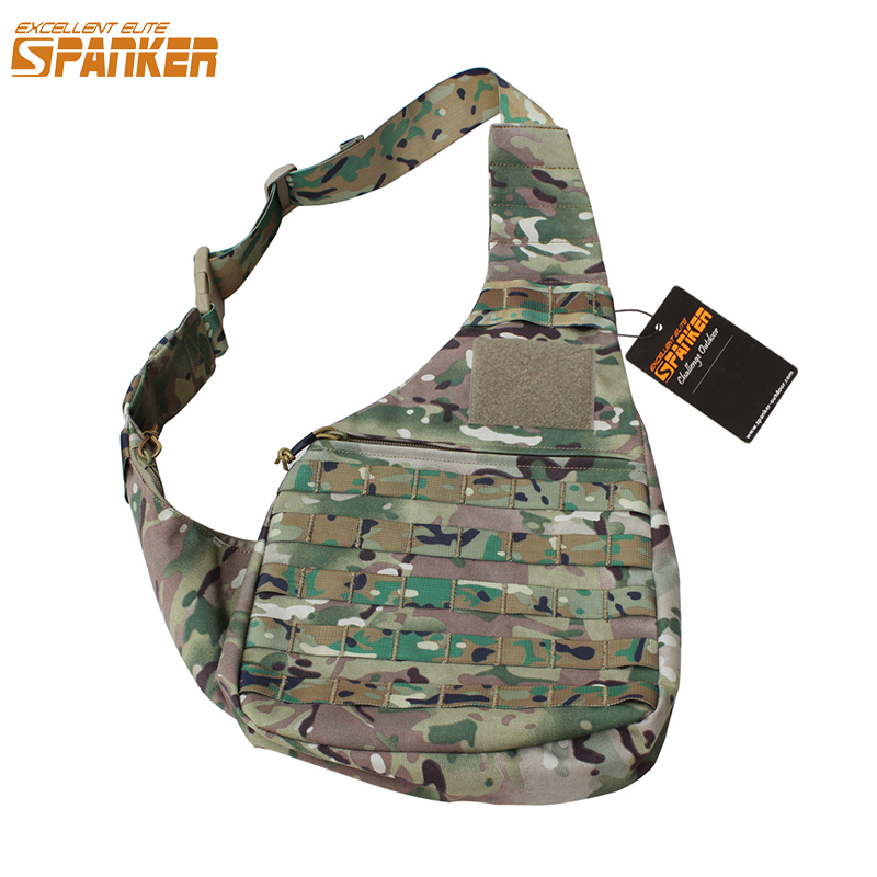 EXCELLENT ELITE SPANKER Outdoor Hunting Bags Tactical Inclined Shoulder Bags Military Nylon Modular Waterproof Molle Travel Bag excellent elite spanker outdoor military waterproof travel backpack army tactical hiking nylon bag molle hunting sport backpack