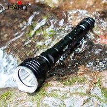 Yupard lanterna 100 led t6, luz branca e amarela, à prova dágua, XM L2 de mergulhador, bateria recarregável, 18650 m