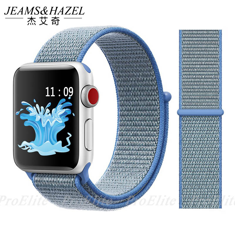 JH Sport Loop For Apple Watch band 4 3 2 1 Nylon Bracelet Soft breathable bands iwatch band 42mm 38mm 44mm 40mm strapJH Sport Loop For Apple Watch band 4 3 2 1 Nylon Bracelet Soft breathable bands iwatch band 42mm 38mm 44mm 40mm strap