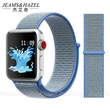 купить JH Sport Loop For Apple Watch band 4 3 2 1 Nylon Bracelet Soft breathable bands iwatch band 42mm 38mm 44mm 40mm strap по цене 325.36 рублей