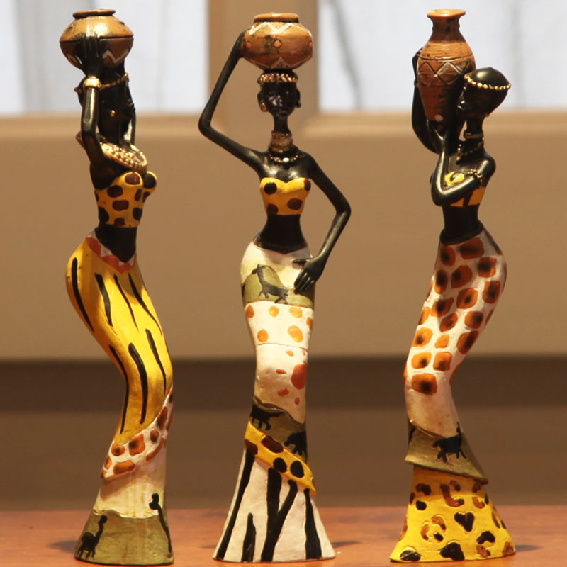 Buy Doll Furnishing Articles Resin Crafts Home Decoration: Home Accessories Exotic African Woman Resin Figurines