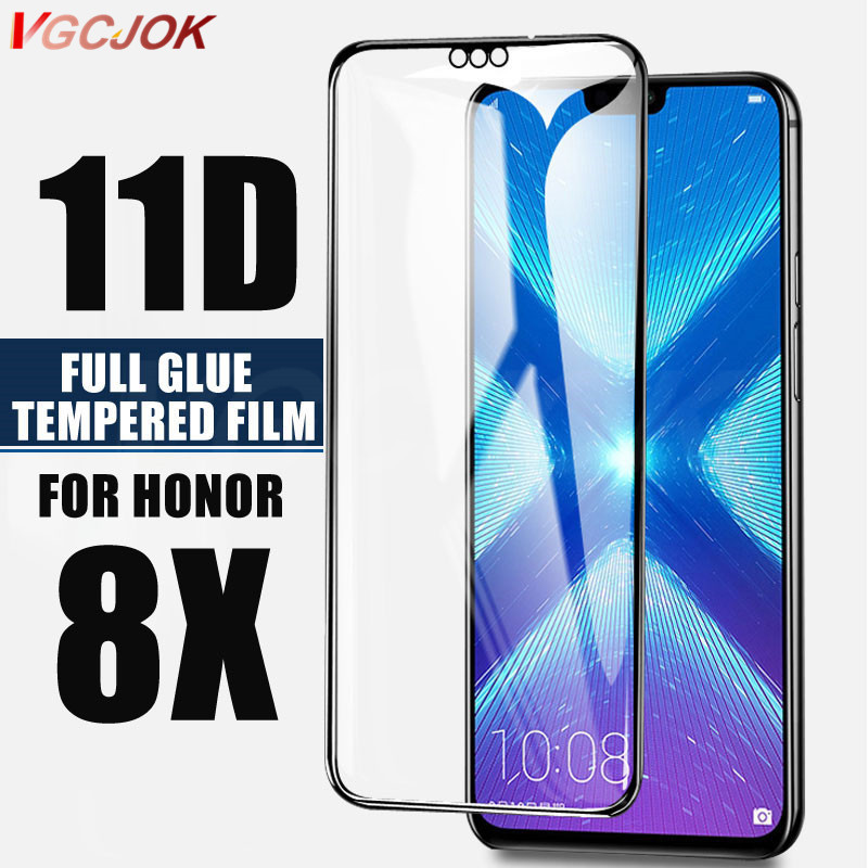 11D Full Glue Tempered Glass On The For Huawei Honor 8X Glass Screen Protector Cover For Huawei Honor8x Tempered Protective Film