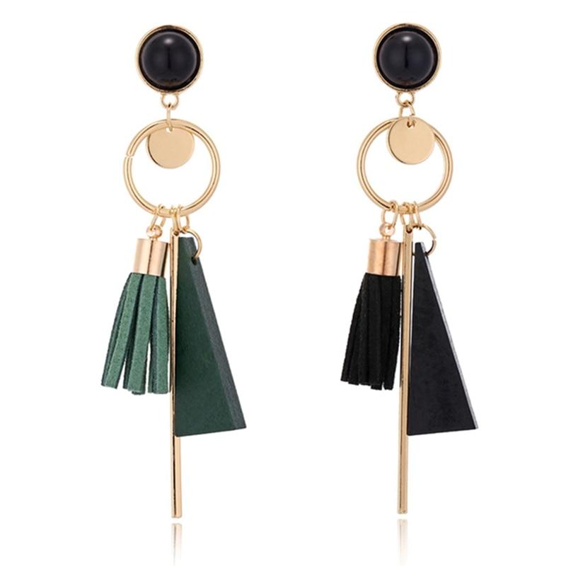 Bohemian Ethnic Statement Geometric Charm Tassel Earrings For Women Bijoux Fashion Jewelry