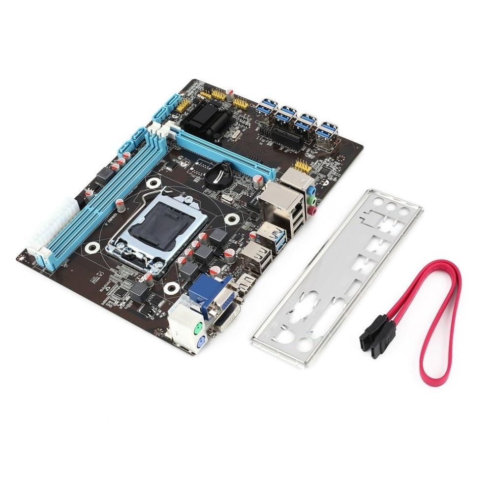 B85 BTC minero Motherboard PCI-e de elevador de alta velocidad 8 GPU LGA1150 máquina de minería máquina para BTC LTC la minería de Bitcoin