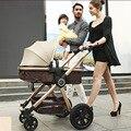 Bebé Cochecito Paisaje de Alta Sentarse y Acostarse Cuatro Ruedas Del Carro de Bebé Para Recién Nacido