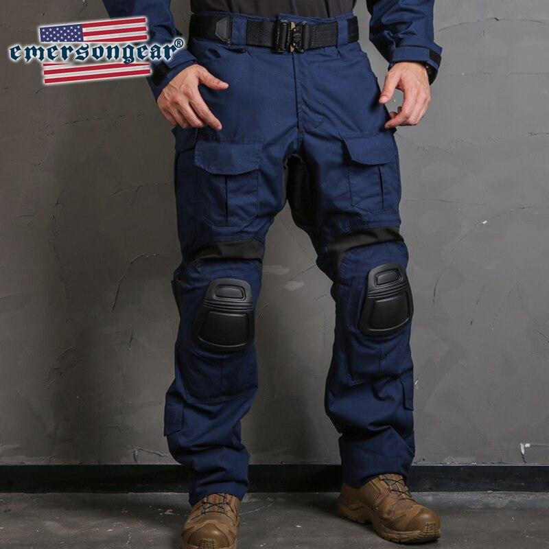 Emersongear emerson azul etiqueta g3 camo calças