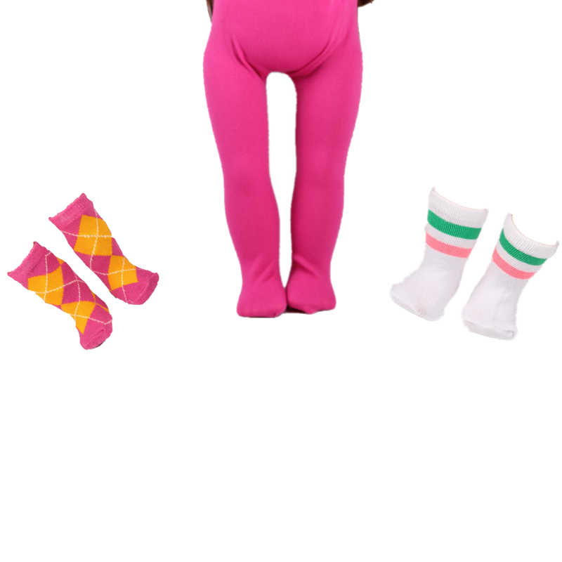 2cd5506d762 Baby Born Doll Tights Doll Pink Red Leggings +2 Pairs of Socks Wear Fit  Clothes