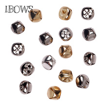 50pcs/bag 20mm Gold White Bells K Iron Water Plated Christmas Cross Bells Pendant Handmade Party DIY Crafts Accessories
