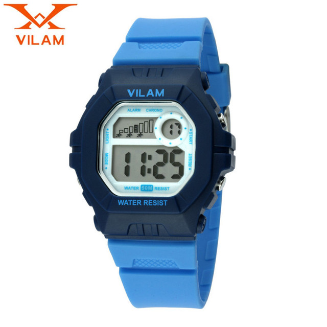 VILAM Casual Children Boy's Girl Watch Alarm Mult-functional Quartz Rubber Wristwatch  Gift Free Ship