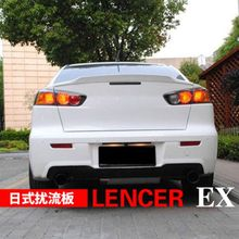 For Mitsubishi Lancer EX Evo 2008 2009 2010 2011 2012 2013 2014 2015 ABS Plastic Unpainted Primer Color Rear Trunk Wing Spoiler