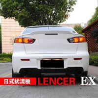 For Mitsubishi Lancer EX Evo 2008 2009 2010 2011 2012 2013 2014 2015 ABS Plastic Unpainted Primer Color Rear Trunk Wing Spoiler