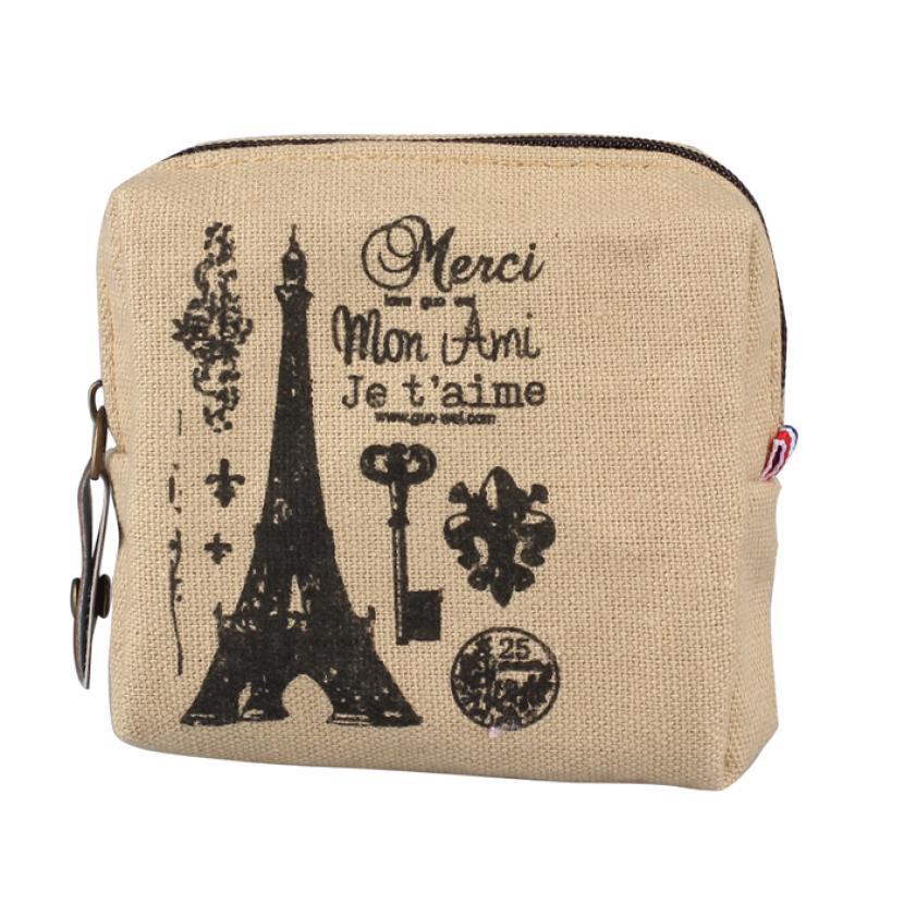 Small Canvas Purse Zip Wallet Girls Coin Case Bag Handbag Key Holder Kids Wallet Monederos Para Mujer Monedas