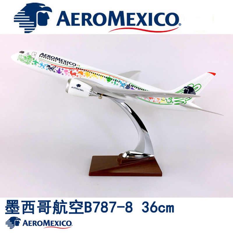 9c9df598214e37 36CM 1:150 Boeing B787-800 model AEROMEXICO Airlines W base airbus metal  alloy