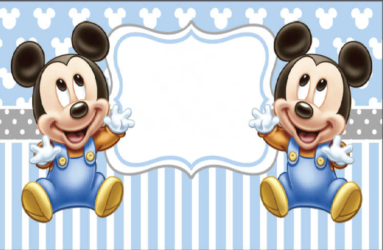 7x5ft Luz Azul Gemelos Bebe Mickey Mouse Minnie Huellas