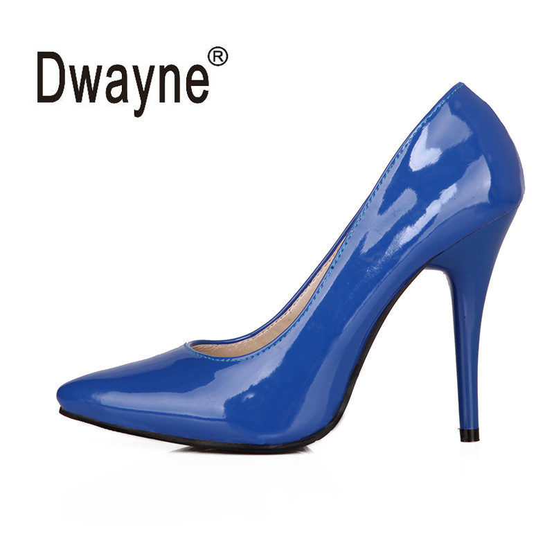 Big Size Women's Shoe 10.5cm High Heels Pumps TAN Party Shoes For Women PU Wedding Shoes chaussure femme A05-39