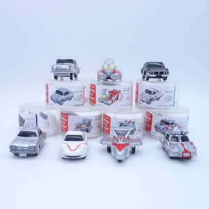 Image 1 - Anime 1/16 Scale Painted Figure Ultraman Cars 7pcs/set Mini Action Figures Inertia Carriages PVC figure Toys Brinquedos 5CM
