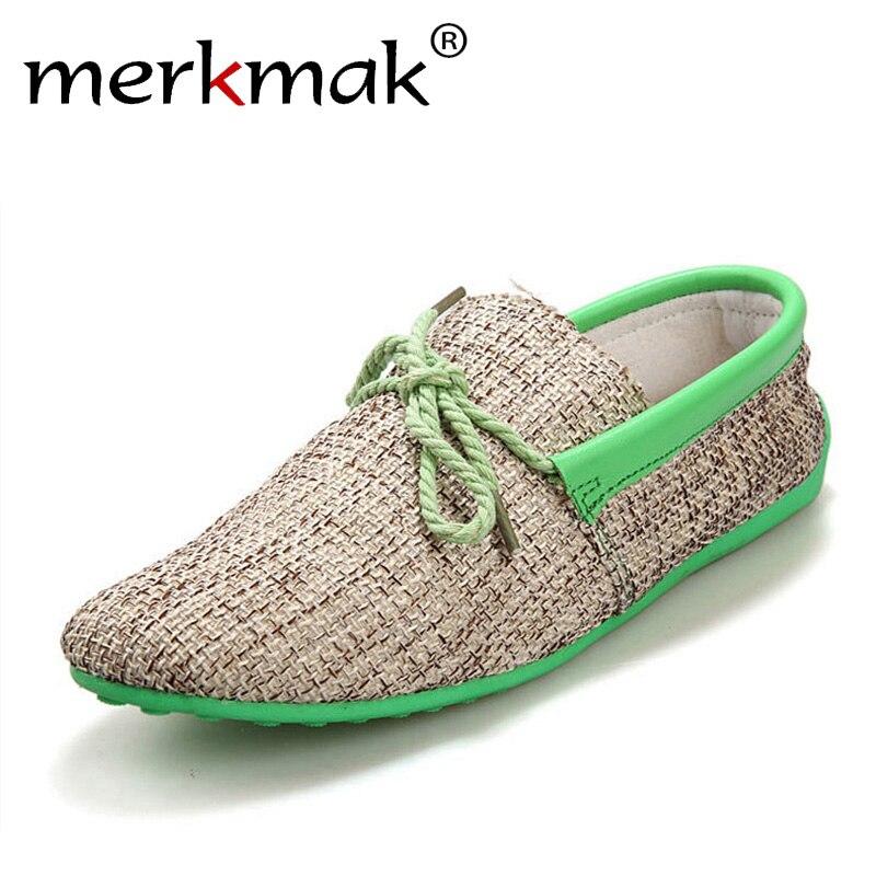 Dropshipping Männer Schuhe Sommer Atmungs Mode Weben Casual Schuhe Weiche Spitze-up Comfort herren Loafers Driving Mocassins