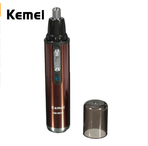 KM-6619 Professional Rechargable Electric Nose Ear Eyebrows Hair Removal Cleaner Trimmer Clipper BUILT- IN 400A battery